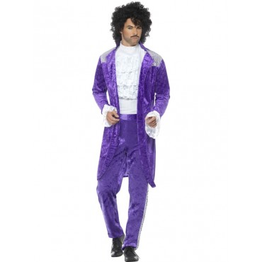 Costume Adult 80's Purple...