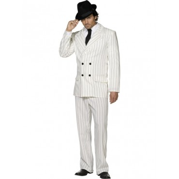 Costume Adult Gangster White M