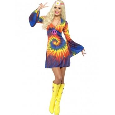 Costume Adult Hippie Tie Dye L